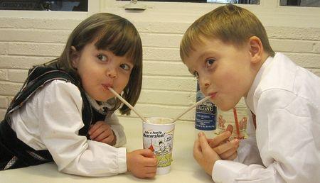 Kids sharing a shake courtesy andrechinn via Flickr