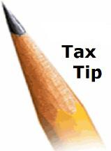 Tax Tip pencil tip logo icon