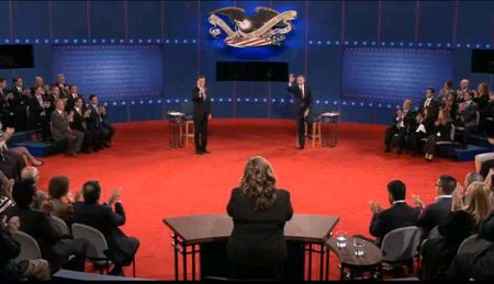 Obama Romney second presidential debate screen shot