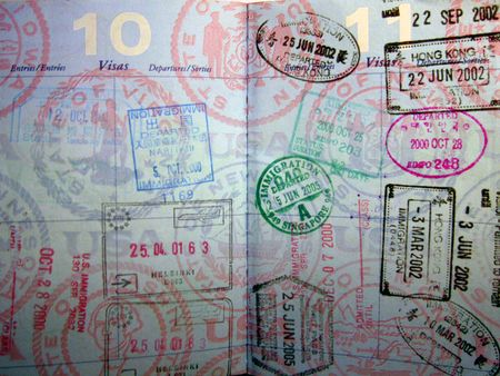 Passport stamps by hjl via Flickr Creative Commons