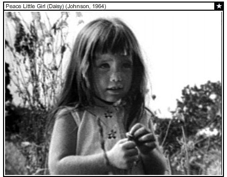 LBJ Daisy Girl nuclear bomb ad against Barry Goldwater 1964