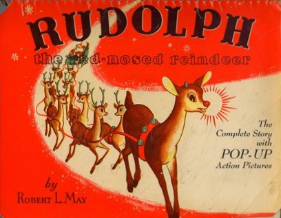 Rudolph-the-red-nosed-reindeer_flip book by Robert L May via Today-I-Found-Out