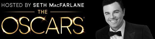 Oscars 2013 Seth MacFarlane banner courtesy AMPAS