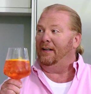 Mario Batali enjoying an Aperol Spritz Cocktail
