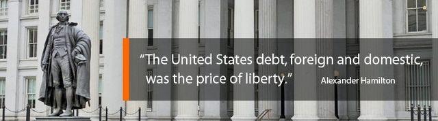 Public debt price quote by Alexander Hamilton