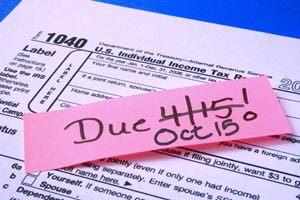 Federal tax filing extension October 15