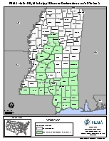 FEMA Mississippi disaster declaration map