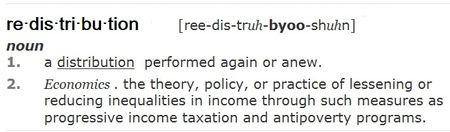 Redistribution definition from Dictionary-dot-com