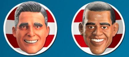 Obama romney halloween masks