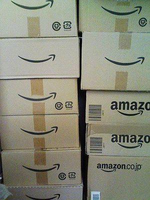 Amazon boxes by Kakohei Uesaka via Flickr CC