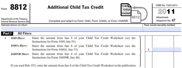 Printables Form 8812 Worksheet mistakes on child tax credit form are delaying some returns don schedule 8812 additional year 2011