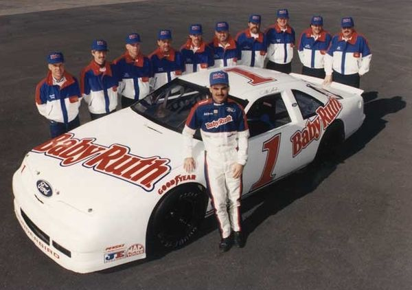 Jeff Gordon and his Baby Ruth Ford team
