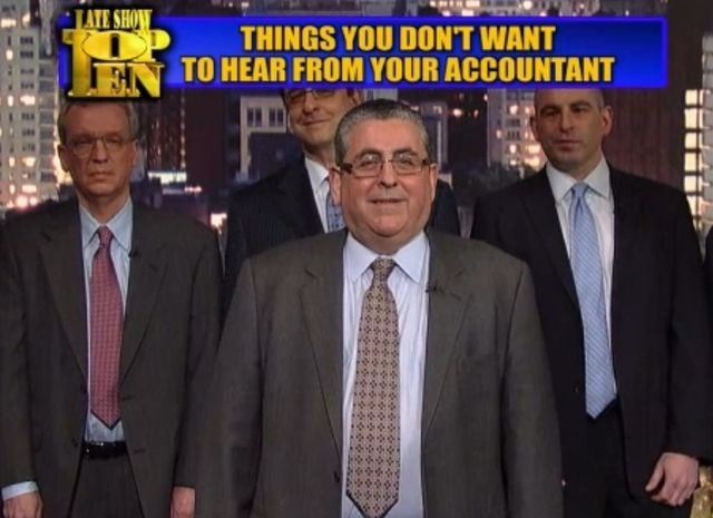 Top 10 things you dont want to hear from your accountant_Letterman Late Show 04-09-13