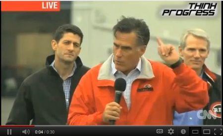 Romney-Ryan at Vandalia Ohio rally 25Sept2012