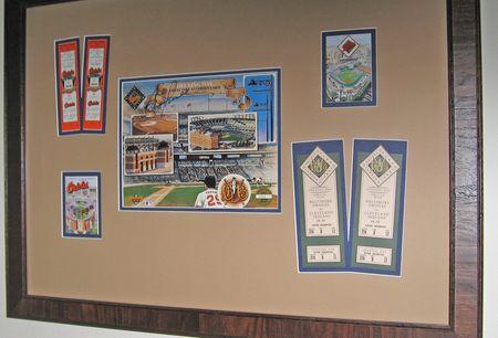 Our Orioles memorabilia display