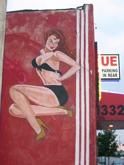 Strip club mural by the_toe_stubber via Flickr