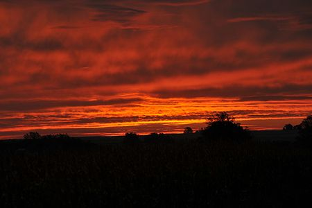 Dawn in central Iowa courtesy Carl Wycoff via Flickr Creative Commons