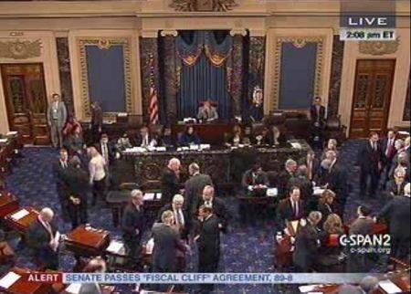 Senate approves fiscal cliff deal 89-8 Jan 1 2013