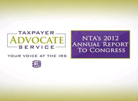 Taxpayer Advocate 2012 Annual Report to Congress