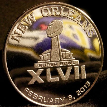 Super Bowl XLVII medallion by Au Kirk via Flickr