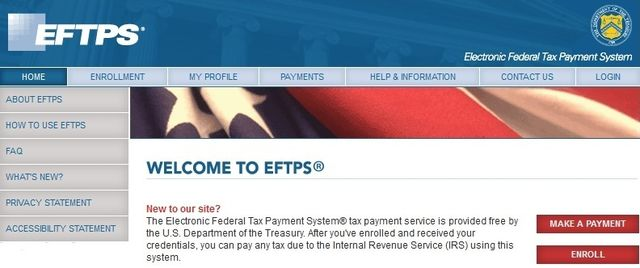 Electronic Federal Tax Payment System EFTPS 2013