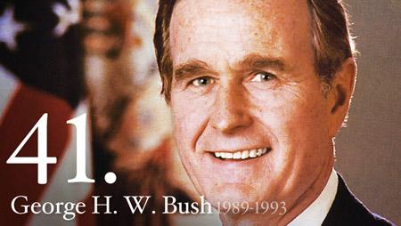 George HW Bush 41st president-VP-acting president under Ronald Reagan via the White House; Click for more info