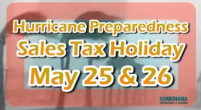 Louisiana hurricane sales tax holiday 2013