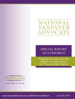 Taxpayer Advocate midyear 2013 report to Congress; click image for table of contents