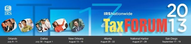 IRS 2013 Tax Forum logo banner