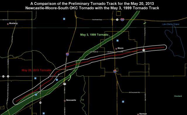 Moore OK 1999 and 2013 tornado paths_NWS