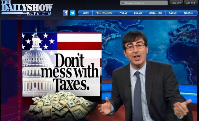 Daily Show Dont Mess With Taxes_080613 tax reform segment
