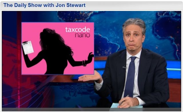 Apple low taxes Congressional hearing Daily Show Jon Stewart 052213