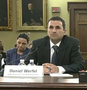 IRS head Daniel Werfel testifying before House committee