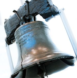 The Liberty Bell, Philadelphia; click image for travel information from VisitPhilly.com