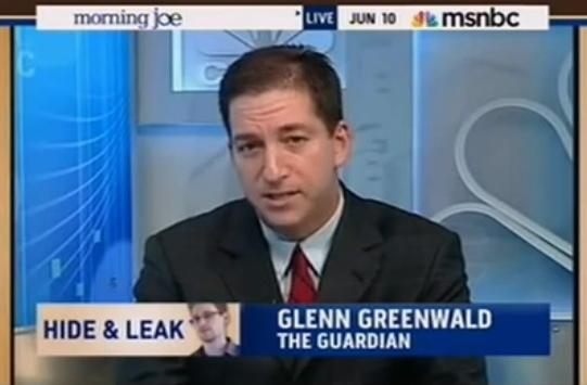 Glenn Greenwald on MSNBC Morning Joe June 10 2013 screen capture from YouTube