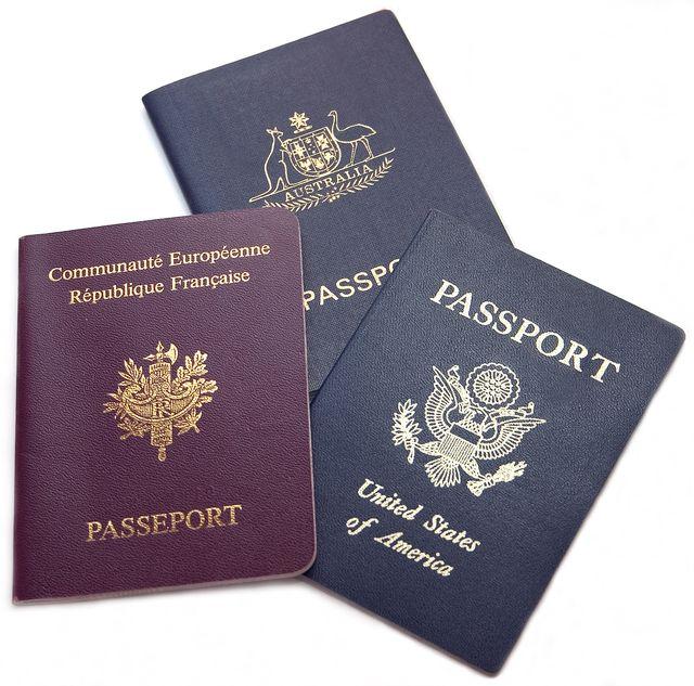 Passports_United States_France_Australia
