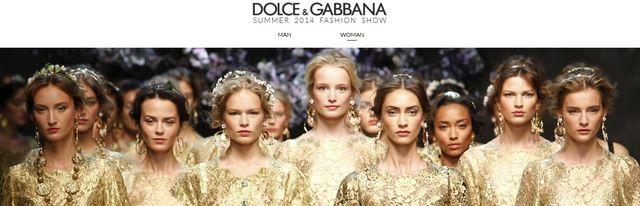 Dolce and Gabbana 2014 fashion gold