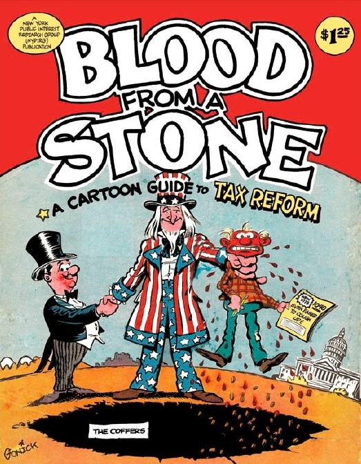 Blood from a Stone Cartoon Guide to Tax Reform 1977