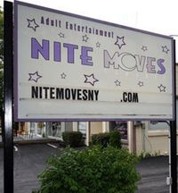 Nite Moves gentlemens club sign