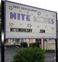 Nite Moves gentlemens club sign