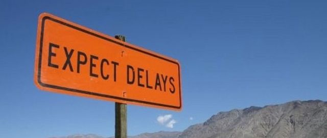 Expect-delays-road-sign