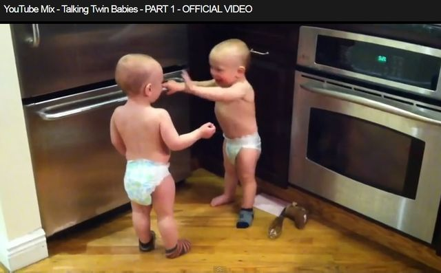 Talking twin babies
