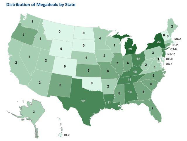 Megadeals map via Good Jobs First