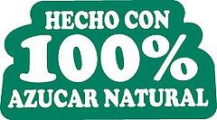 Made with 100 percent natural sugar logo