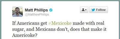 Matt Phillips Twitter MexiCoke comment
