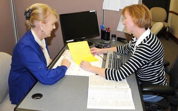 Tax professional helping taxpayer via US Army