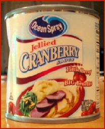 Canned jellied cranberry sauce