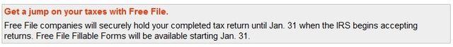Free File IRS screen shot_hold until Jan 31