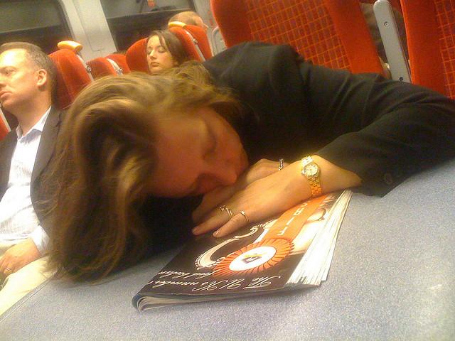 Sleepy commuter by  Alexander Baxevanis_futureshape via Flicker