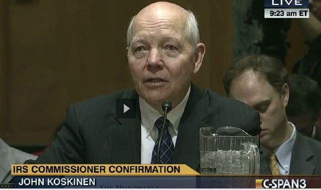 John Koskinen during IRS commissioner hearing_C-SPAN